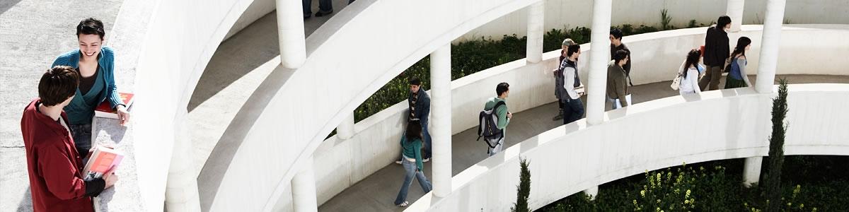 Higher education interior of university