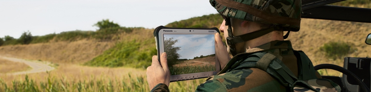 Military - soldier with tablet